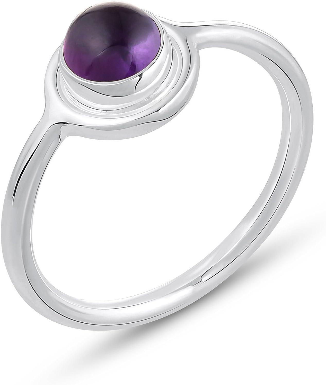 AMETHYST Gemstone 925 Sterling Silver HANDMADE Ring Valentine Jewelry US Size 7