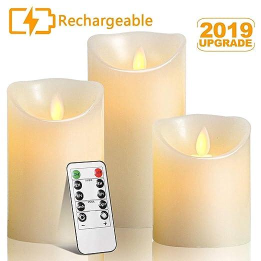 Amazon.com: Velas votivas sin llama, Autbye recargables, sin ...