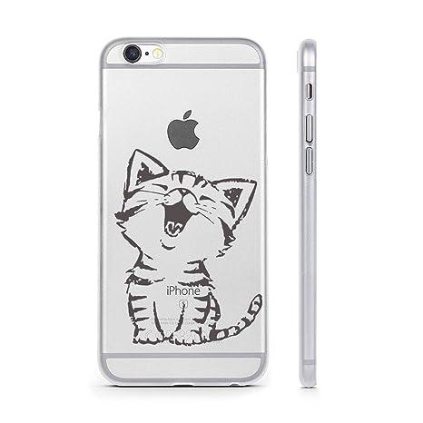 Funda iPhone 6 6S , YIGA Moda Feliz Gatito Style Premium ...