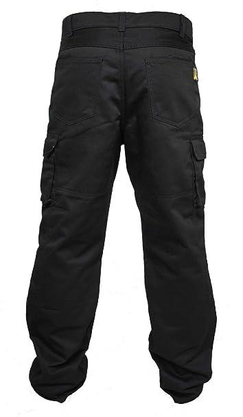 Hombres Forro protector moto de la motocicleta Trabajo pantalones Jeans Cargo Blindada Protección Aramid