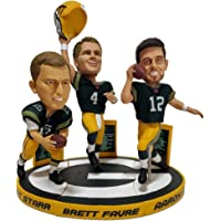 $169 » Aaron Rodgers, Brett Favre and Bart Starr Green Bay Packers Triple Quarterback Bobblehead Set - Numbered to Only 1,008