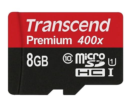 597 opinioni per Transcend TS8GUSDCU1 Scheda di Memoria MicroSDHC da 8 GB senza Adattatore,