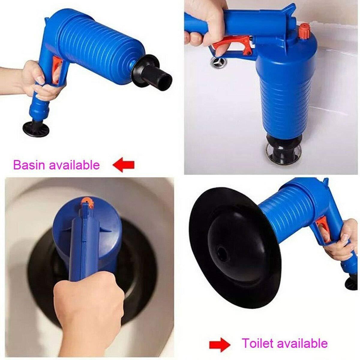 QUAKOI High Pressure Air Toilet Drain Blaster Pump Plunger Sink Pipe Clog Home Remover