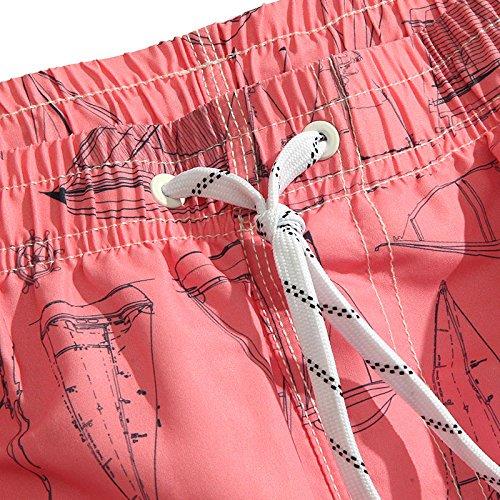 Pantaloncini da spiaggia uomo foderato con pantaloncini da bagno