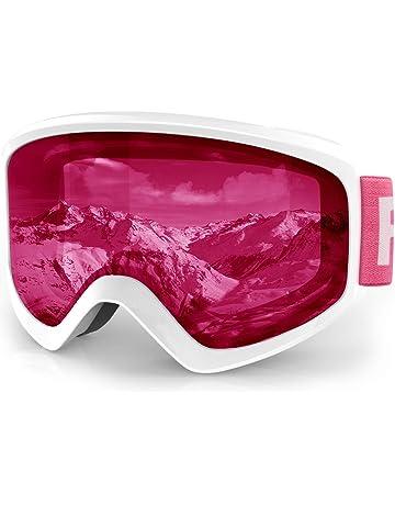 efe10e0d53a440 findway Masque de Ski Protection pour Enfant Lunette Ski Masque Ski OTG de  Garçon ou Fille