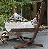 Prugist TropiRest 13-ft. Cocoa Pillow-Top Double Hammock with Wood Arc Stand