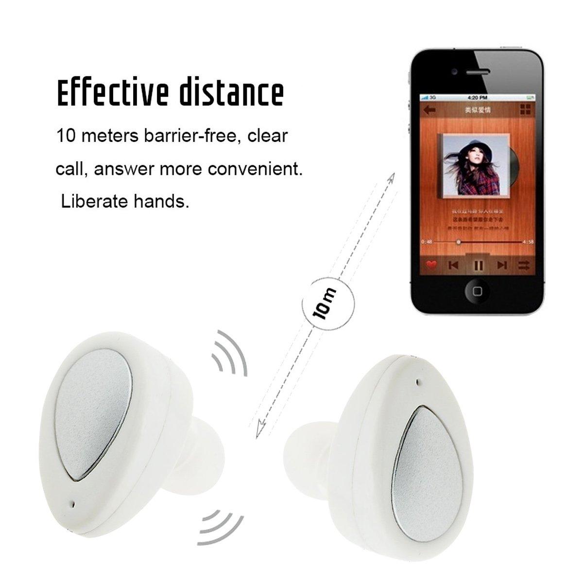 Mini Bluetooth Auricular,Dokpav® TWS-K2 Bluetooth V4.1 Gemelos estéreo Headset Headphone manos libres estéreo Auriculares Con caja de carga para iOS ...