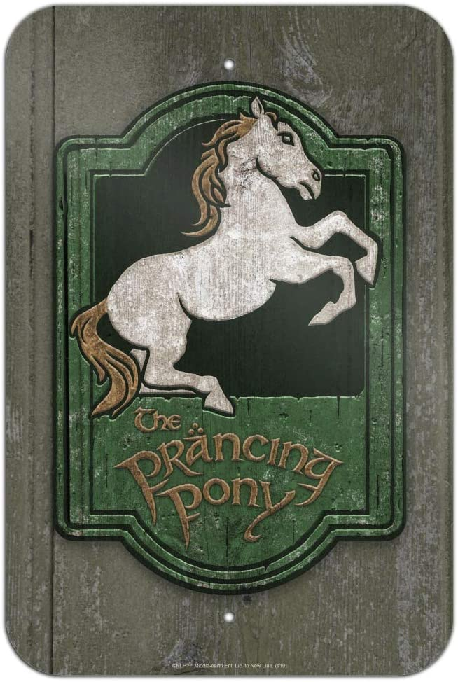 GRAPHICS & MORE Lord of The Rings The Prancing Pony Home Business Office Sign