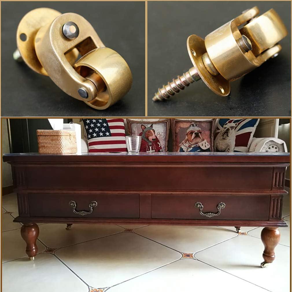 meubles de lit meuble coffre Tiazza Lot de 4 roulettes universelles en laiton rotatif /à 360/° pour piano canap/é