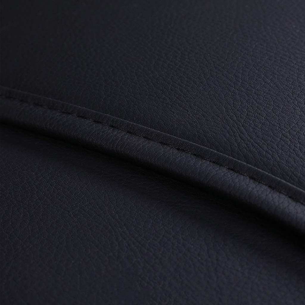 5-Sitzer-Komplettsatz Universal-kompatible Airbags vorne und hinten atmungsaktiv hochwertiges Leder Comfort Protector Cushion,A Autositzbez/üge