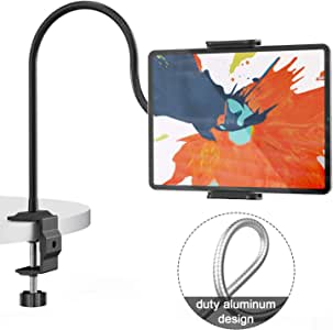 """Klsniur Gooseneck Tablet Mount Holder for Bed,Flexible Tablet Holder Arm Compatible with iPad iPhone Series/Nintendo Switch/Samsung Galaxy Tabs/Amazon Kindle Fire HD etc,35""""Overall Length"""