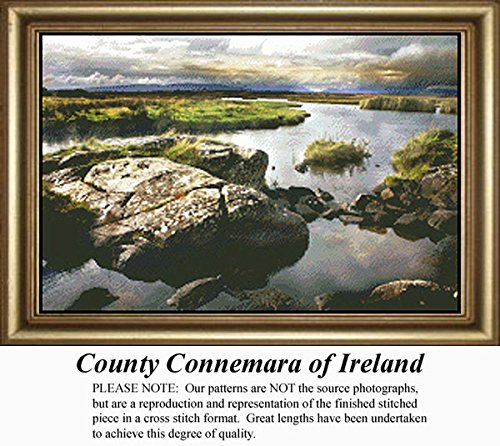 County Connemara of Ireland, Irish Counted Cross Stitch Pattern (Pattern Only, You Provide the Floss and Fabric)