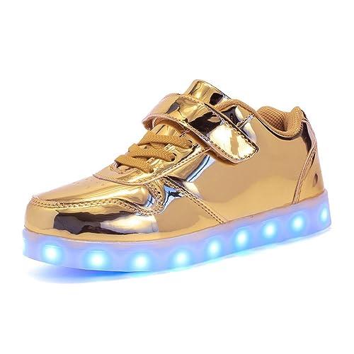 Zapatillas LED con Luces para niños Niños Chicas Zapatos Casuales para niños Carga USB (Niños