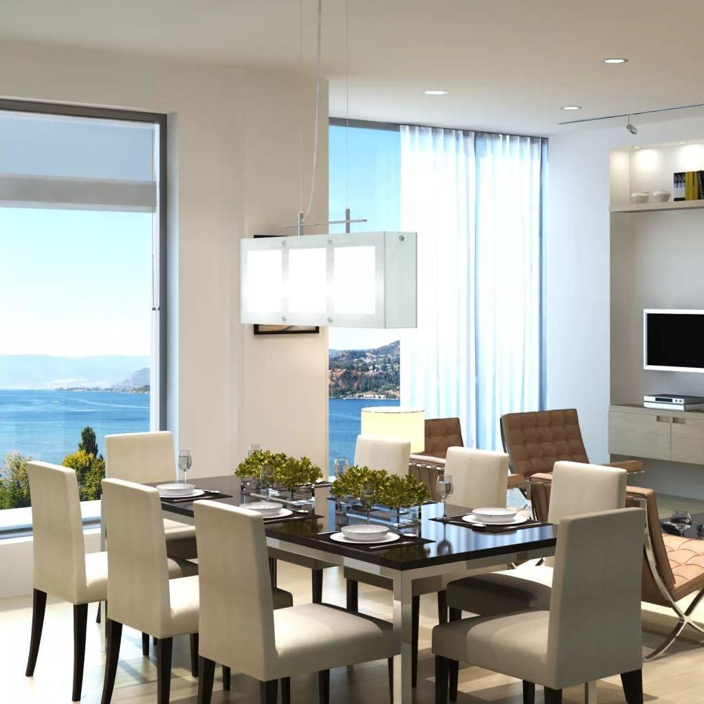 luckyfu lámpara para mesa de comedor 3 x E14 vetro. plafoniere Moderne plafoniere de techo lámpara de techo empotrados techo empotrados de pared: Amazon.es: Iluminación