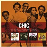 UK five CD box containing a quintet of albums by the Funk/R&B band packaged in mini LP sleeves and all housed in a slipcase. This set includes the albums Chic (1977), C'est Chic (1978), Risque (1979), Real People (1980) and Take It Off (1...