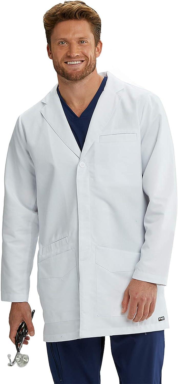 Grey's Anatomy Lab Coat for Men– Professional Full Length, Long Sleeve: Clothing