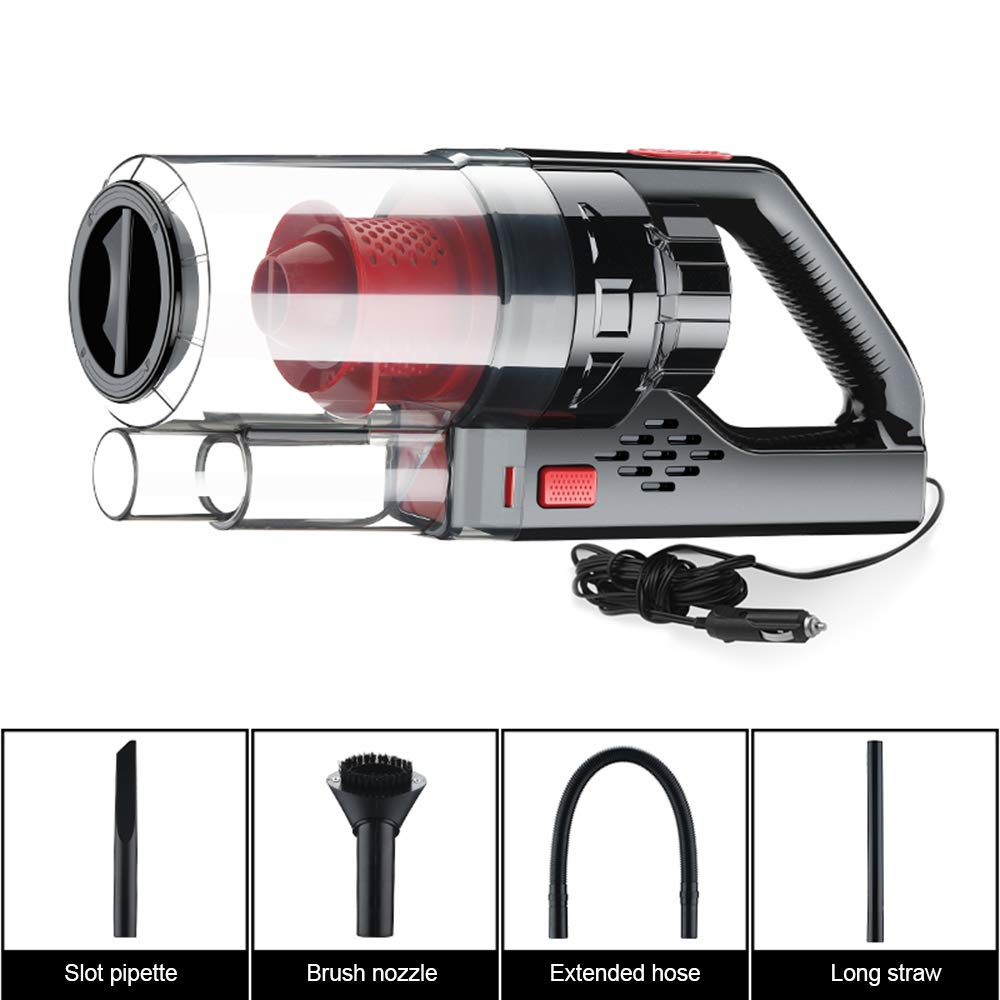 VISLONE Car Vacuum Cleaner High Power DC 12V 150W 6000PA Wet Dry Handheld Portable Auto Vacuum Cleaner Household Handheld Vacuums
