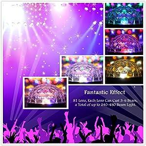 61tdgazDouL. SS300  - GUSODOR-Discokugel-LED-Lichteffekte-Bluetooth-MP3-Musik-Player-RGB-Sprachaktiviertes-Kristall-Magic-Ball-Bhnentechnik-fr-Show-Disco-KTV-Stab-Stadium-Club-Hochzeit-Geburtstag