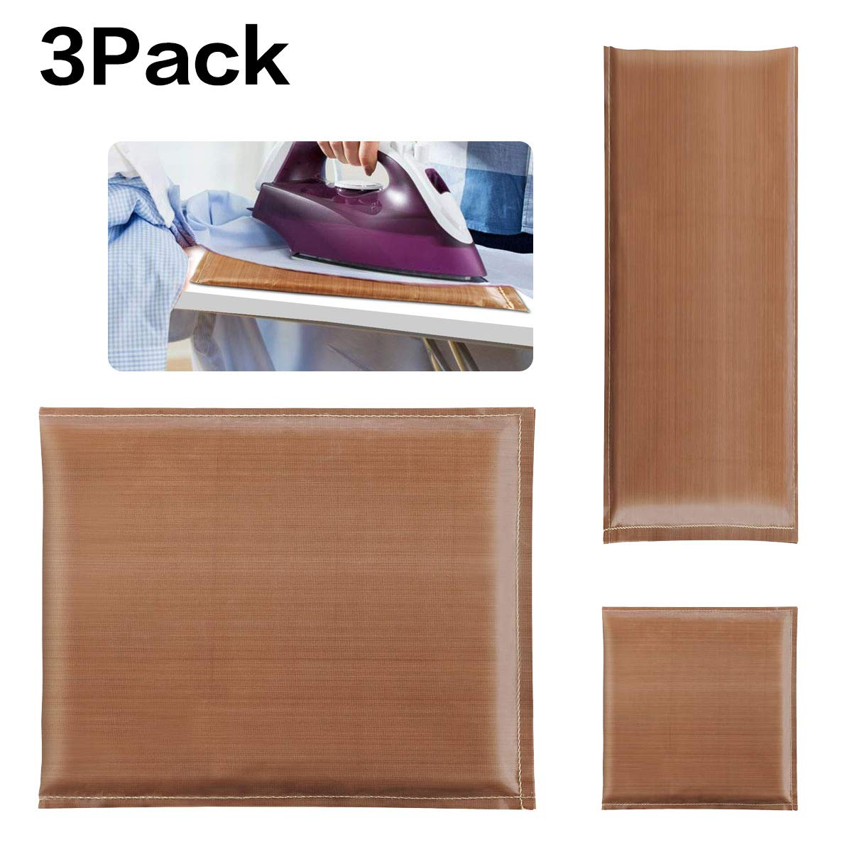3 Pack Heat Press Pillow 3 Sizes Teflon Pressing Transfer Pillows Mat for Heat Pressing Shirt and Heat Pressing Digital Transfer Projects