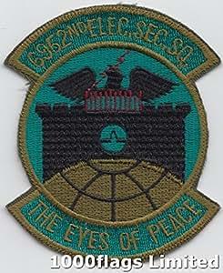 6952nd seguridad eléctrica escuadrón los ojos de fuerza aérea parche paz