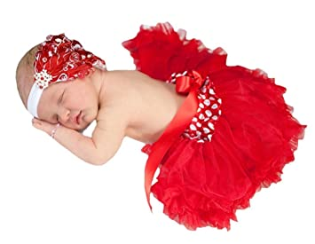 f3ce9d96e0 Image Unavailable. Image not available for. Color: Polka Dots and Red Baby  Pettiskirt ...