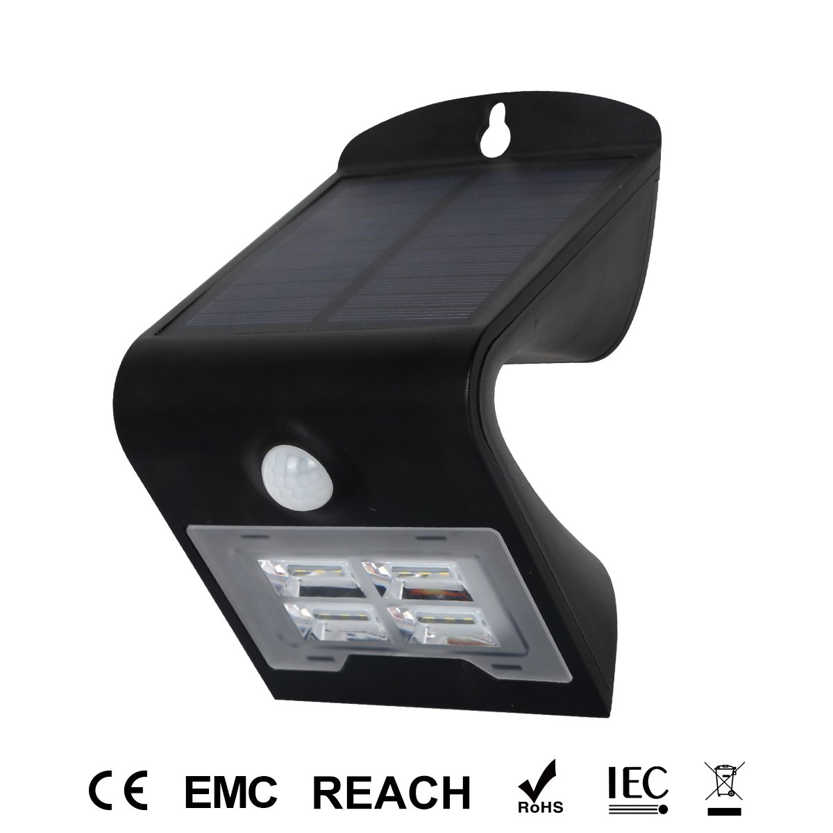 honesteast LEDソーラーライトアウトドア、超明るいモーションセンサーワイヤレス防水壁ライトプラスチックレンズ付き、セキュリティライト、自動on / off、anti-thelfインストール、ブラック( 1パック) B0798F62S2, PEEWEE BABY:461d80de --- adfun.jp