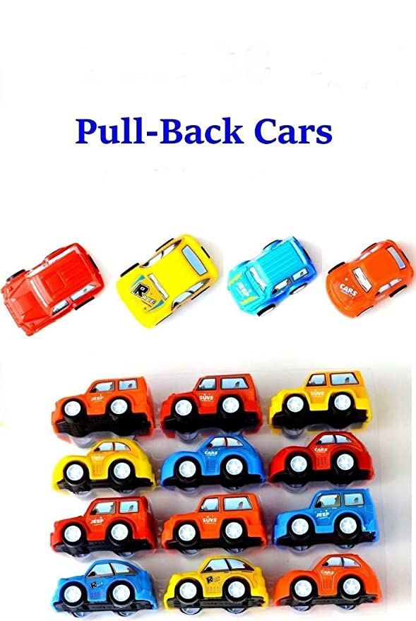 Forever Kidzz Mini Pull Back Car Toys/Toddler Best Birthday Return Gift, 12 Piece