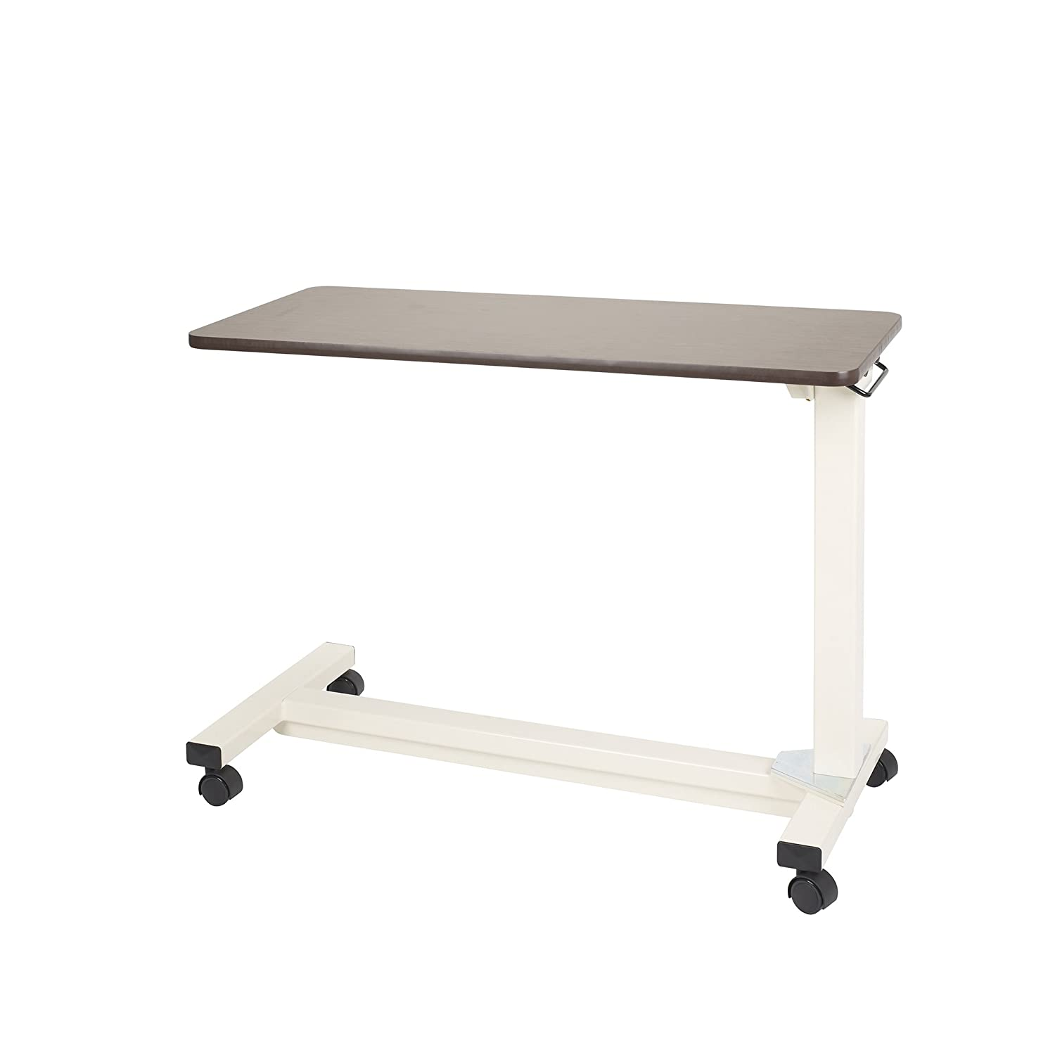 Split top overbed table - Drive Medical Bariatric Heavy Duty Overbed Table Oak