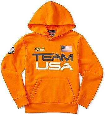 Ralph Lauren Boys' Team USA Cotton-Blend Hoodie (2/2T, BRIGHT