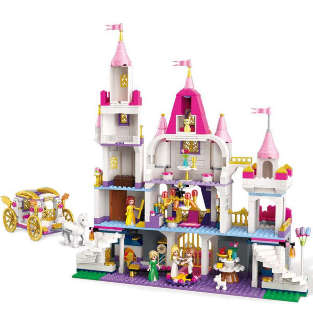 SSLW Mädchen Prinzessin Montiert Castle Montiert Prinzessin Puzzle Aufklärung Lego Toys caaf8b