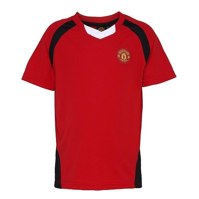 anchester United FC - Camiseta oficial del anchester United FC manga corta para niños - Fútbol