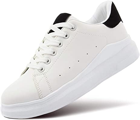 ZGR Women's Fashion Sneakers White PU