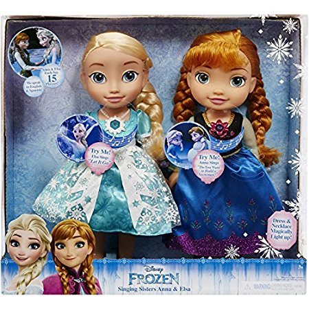 Disney Frozen Sisters (Disney Frozen Singing Sisters, Light Up Elsa and Anna Dolls, Multicolor)
