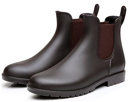 dae83aaeff Dreamone Stivali Gomma Donna Caviglia Chelsea Uomo Rain Boot Stivaletti  Pioggia Antiscivolo Impermeabile Scarpe