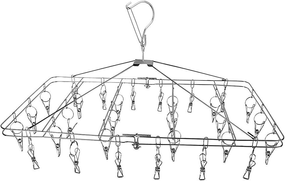 Caballo de ropa tendedero plegable para colgar ropa tendedero con 30pinzas