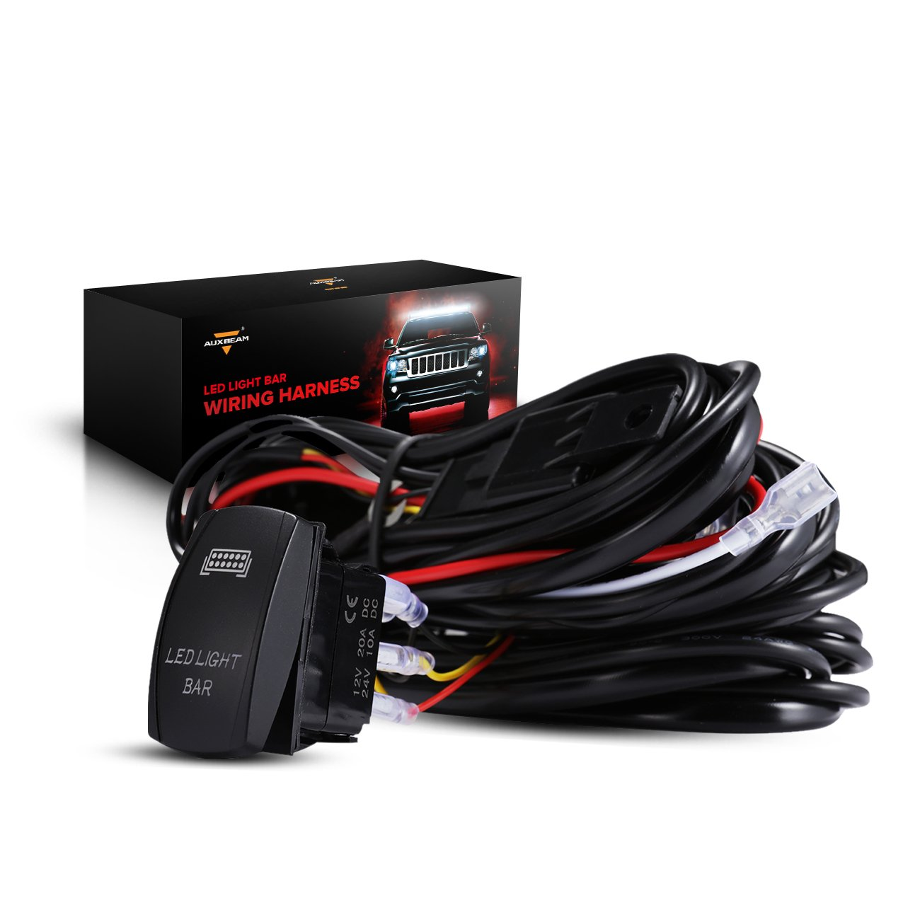 Auxbeam Led Light Bar Rocker Switch With 3pcs Switching Lines Wiring A Loom Harness Kit Fuse