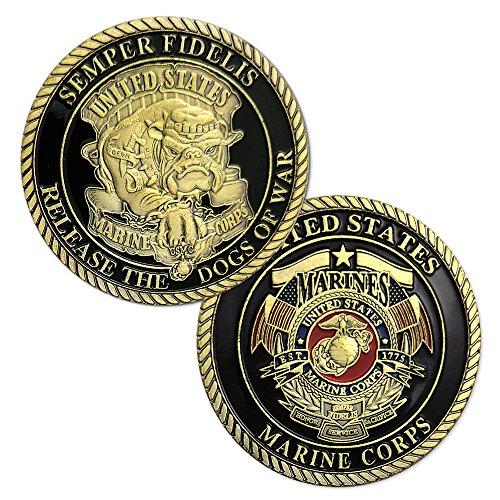 atsknsk U.S.Marine Corps Devil Dog Military Challenge Coin (Coin Medal Challenge)