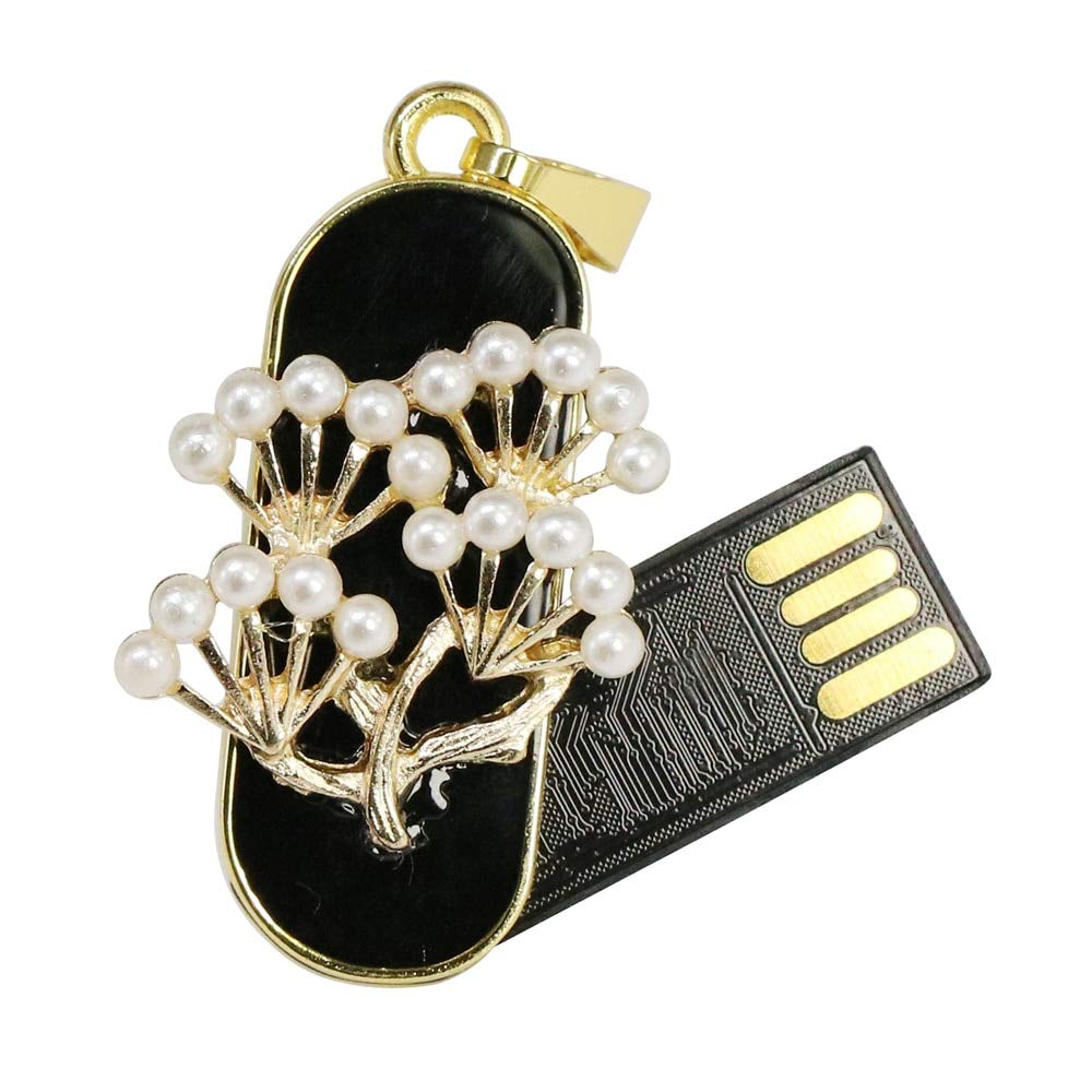 Metal Crystal Pearl Flower 2.0 USB Flash Drive Pen Drive 4-32GB Memory U Stick