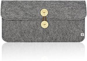 MasiBloom Felt Keyboard Sleeve Case for Apple Bluetooth Wireless Keyboard MC184LL/B (Model: A1314) & Anker Bluetooth Keyboard A7726111 and BATTOP Bluetooth Keyboard (Case- Carpet Grey)