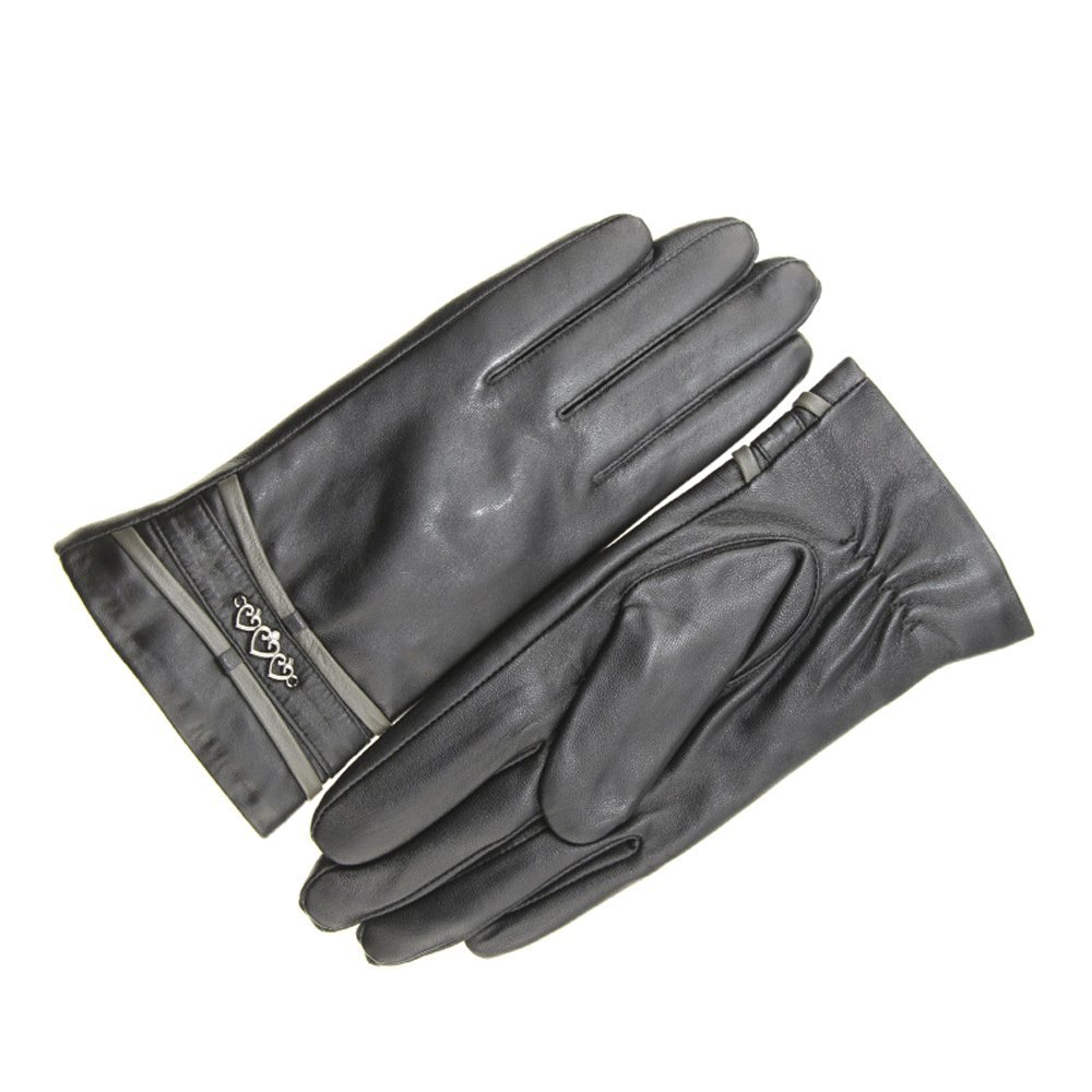 T-S Handschuh Winter Warme Schaffell Handschuhe Outdoor Motorrad Handschuhe Schwarz ++