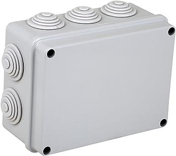 Electraline 60556 - Caja de derivación de superficie (190 x 140 mm): Amazon.es: Bricolaje y herramientas