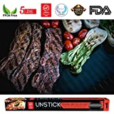 UNSTICK Reusable Non-stick BBQ Grill Mat | Japanese PFOA-Free barbecue grilling sheet | 5 Year Warranty