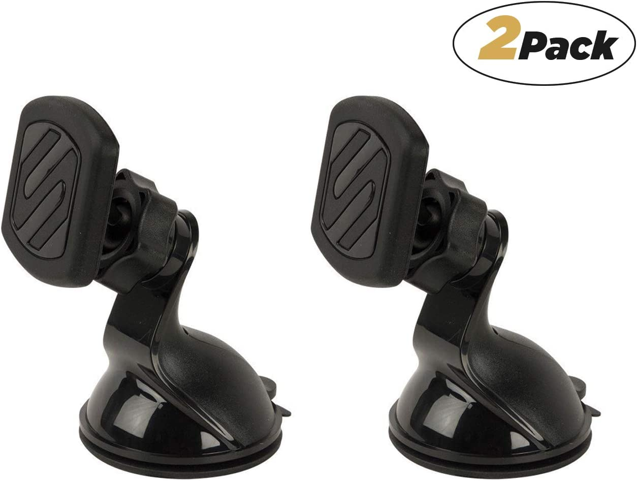 Pack of 2 Black SCOSCHE MWSM2PK-UB MagicMount Universal Magnetic Suction Cup Mount Holder for Mobile Devices