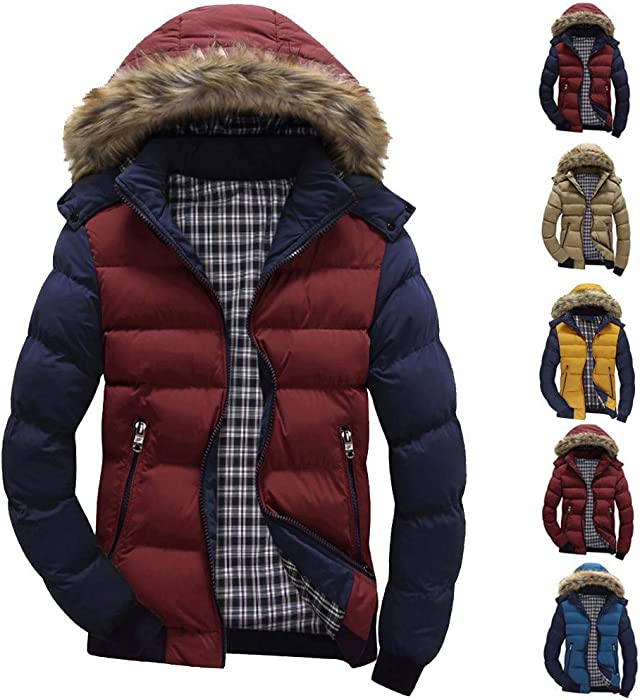 Men Winter Warm Hoodie Solid Fleece Coat Outwear Realdo Mens Thicken Wind Jacket