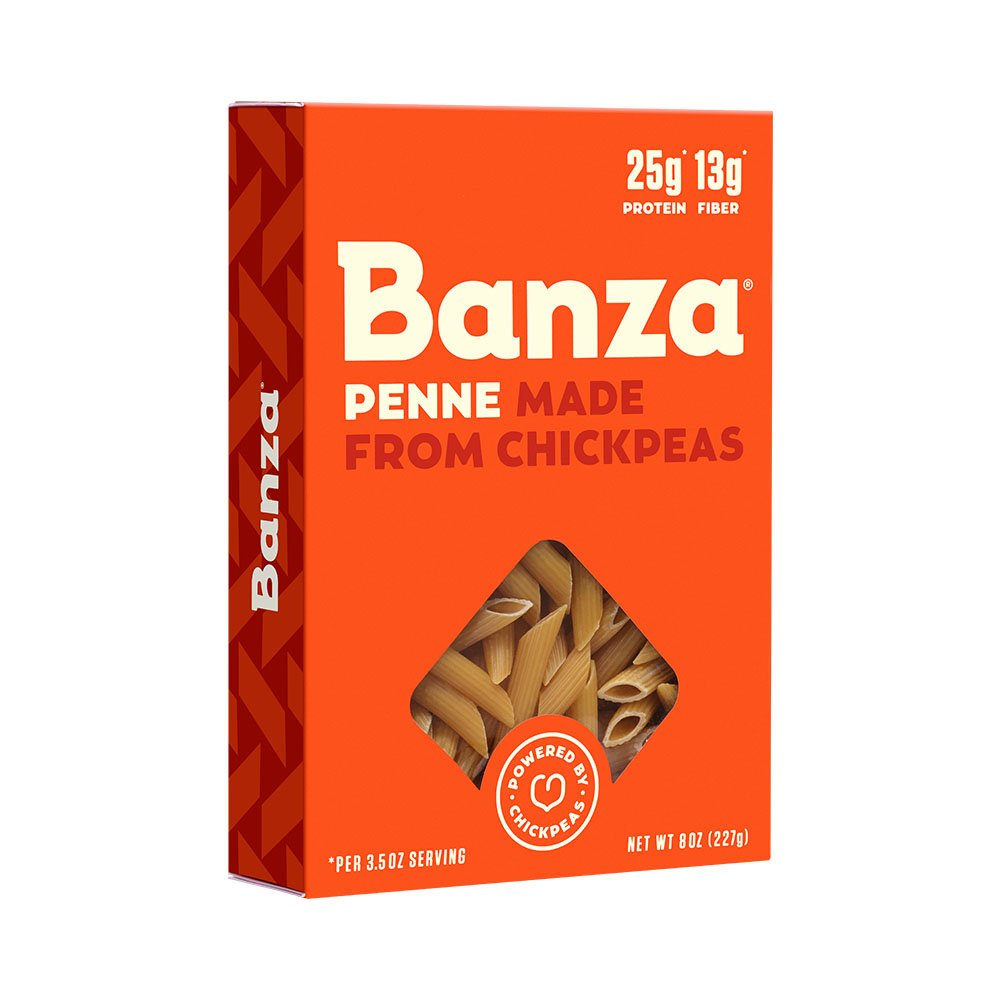 Banza Chickpea Pasta – High Protein Gluten Free Healthy Pasta – Penne (Pack of 6)