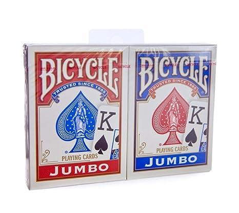 Bicycle Rider Back - Rojo y azul índice Jumbo cartas de ...