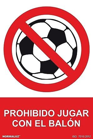 NM RD40965 - Señal Prohibido Jugar Con El Balon Aluminio 0,5 mm ...