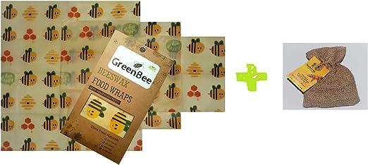 GreenBee Envoltura de alimentos de cera de abeja con bolas de ...
