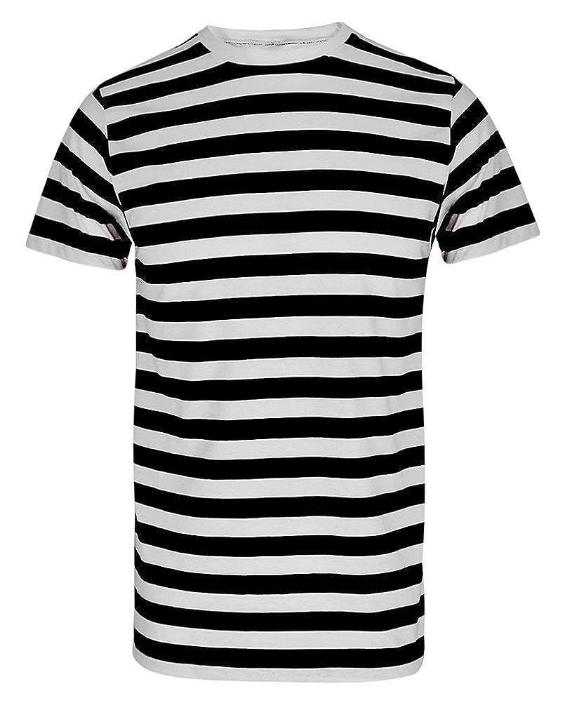 Maglietta con motivo a righe, per adulti e bambini Trendy Fashion