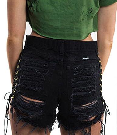 Vaqueros Cortos Mujer Verano Cintura Media Jeans Shorts ...